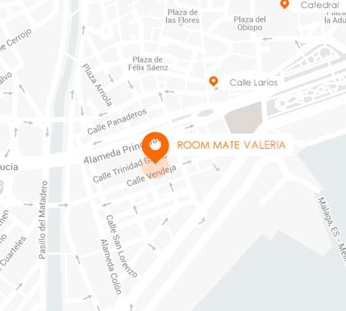 Valeria Hotel Location in Malaga